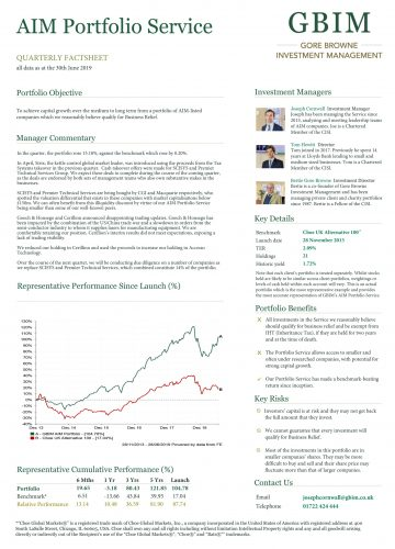 AIM Portfolio Quarterly Factsheet – June 2019