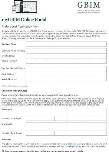 myGBIM Professional Application Form