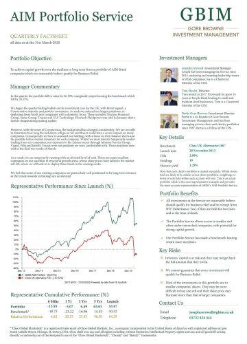 AIM Portfolio Quarterly Factsheet – Q1 2020